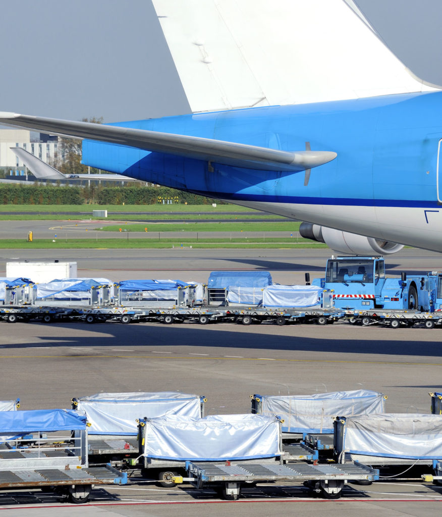36209710 - loading an airplane with airfreight at an airport